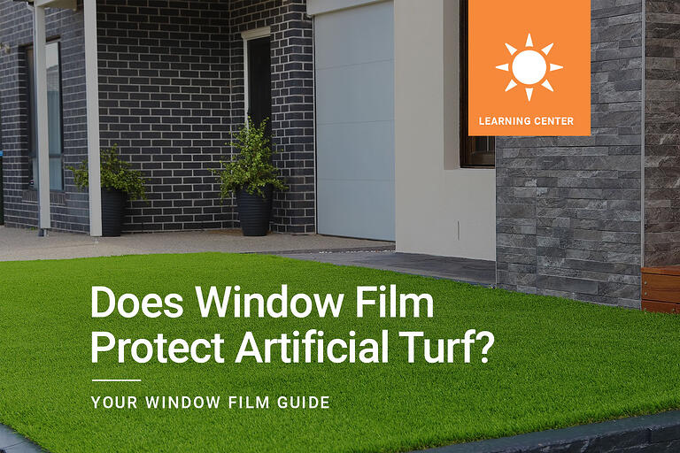 Does Window Film Protect Artificial Turf?