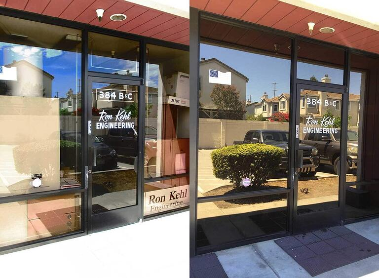 Before and After: 3M Night Vision Sun Control Window Film San Jose